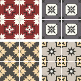 Vector ceramic tiles with seamless pattern Royalty Free Stock Photos