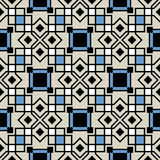Vector ceramic tiles with seamless pattern Royalty Free Stock Images
