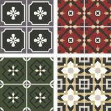 Vector ceramic tiles with seamless pattern Royalty Free Stock Image