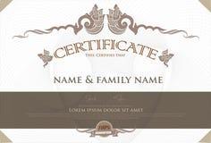 Vector certificaat Royalty-vrije Stock Fotografie