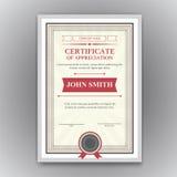 Vector certificaat Royalty-vrije Stock Foto