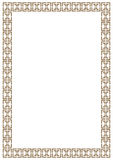 Vector certificate border template with additional design elements Stock Image