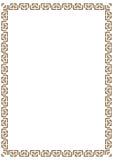 Vector certificate border template with additional design elements Royalty Free Stock Photos