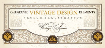 Vector certificate coupon template design vintage Stock Photos
