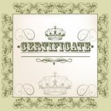 Vector certificate design Stock Photography