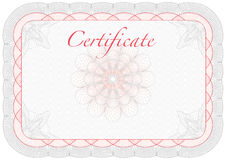Vector certificate, diploma template Stock Images