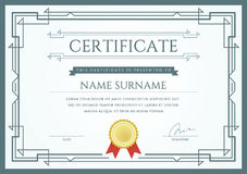 Vector Certificate or Diploma Template. Ready for Print or use it on the Internet Stock Image
