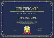 Vector Certificate or Diploma Template. Ready for Print or use it on the Internet Stock Images