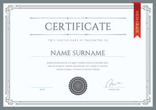 Vector Certificate or Diploma Template. Ready for Print or use it on the Internet Royalty Free Stock Image