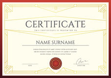 Vector Certificate or Diploma Template. Ready for Print or use it on the Internet Stock Photos