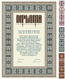 Vector certificate or diploma template. Royalty Free Stock Photography