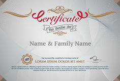 Vector certificate Stock Photography