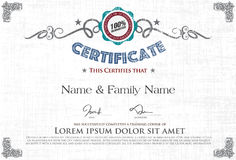 Vector certificate Stock Photo
