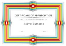 Vector certificate template Stock Images