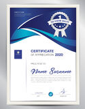 Vector certificate template, business flyer layout desig Stock Images