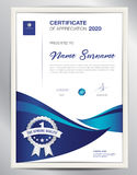 Vector certificate template, business flyer layout design. Certificate template vector illustration, diploma layout in a4 size, business flyer design Stock Images