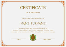 Vector certificate template Stock Photo