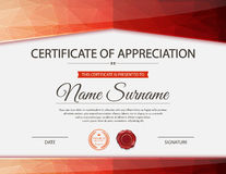 Vector certificate template Stock Image