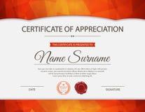 Vector certificate template vector illustration