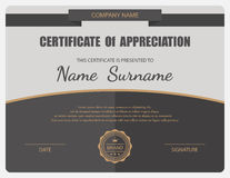 Vector certificate template Stock Photos