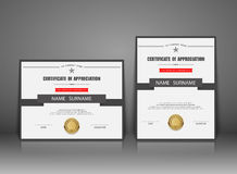 Vector certificate template Royalty Free Stock Image