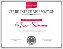 Vector certificate template Stock Photography