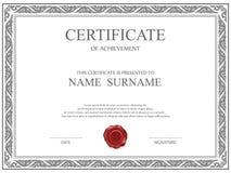 Vector certificate template. Stock Photo