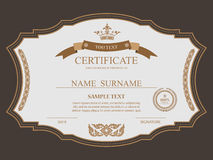 Vector certificate template. Stock Photography