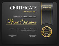 Vector certificate template. Royalty Free Stock Photo