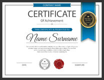 Vector certificate template. Royalty Free Stock Image