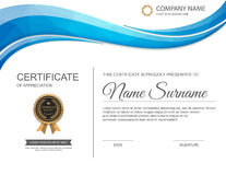 Vector certificate template. Royalty Free Stock Photos