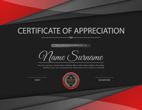 Vector certificate template. Stock Image