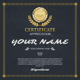 Vector certificate template. elegant and stylish. With the certi Royalty Free Stock Photography