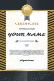Vector certificate template. elegant and stylish. With the certi Royalty Free Stock Image