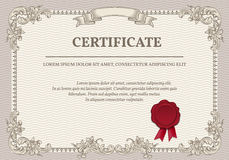 Vector certificate template Royalty Free Stock Photo