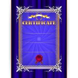Vector certificate on textile background Stock Photos