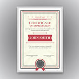 Vector certificate Royalty Free Stock Photo
