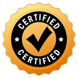Vector certified icon Royalty Free Stock Photography