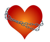 Vector chained heart. Abstract image of the chained heart Stock Image
