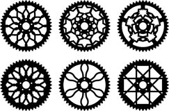 Vector chainrings pack Stock Images