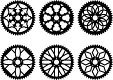 Vector chainrings pack Stock Photo