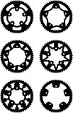 Vector chainrings pack Stock Photography