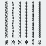 Vector chains patterns. On gray background royalty free illustration
