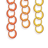 Vector chains in three colors Royalty Free Stock Photo