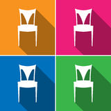 Vector chair sign, Illustration EPS10 Royalty Free Stock Image