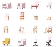 Vector chairs set vector illustration