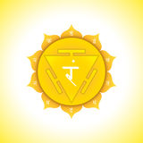 Vector chakra Manipura symbol illustration Stock Images