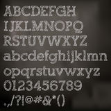 Vector chalk alphabet on blackboard Royalty Free Stock Images