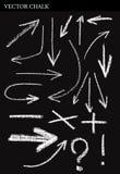 Vector Chalk Arrows Stock Image
