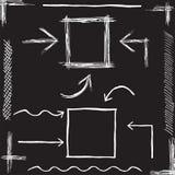 Vector Chalk Arrows. Hand drawn vector Royalty Free Stock Photos